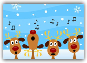Happy Christmas - Singing Reindeer