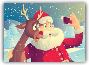 Rudolf & Santa selfie!