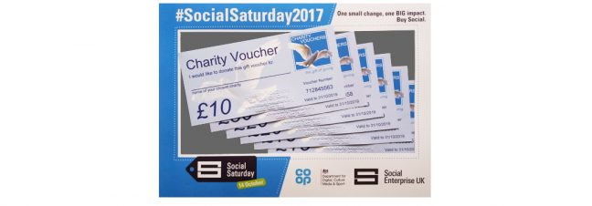 Free £10 Charity Vouchers on Social Saturday